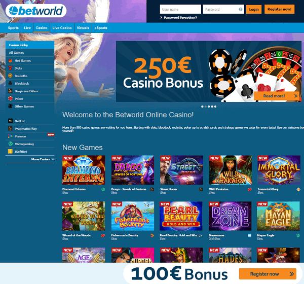 Betworld Casino Freispiele Bonus
