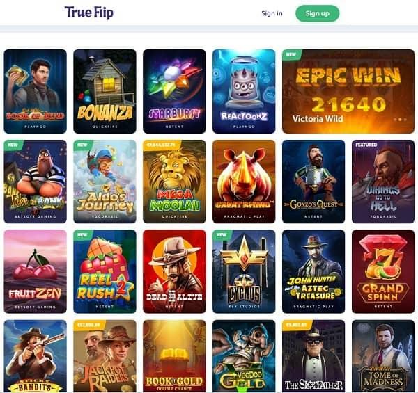 True Flip Casino Free Spins