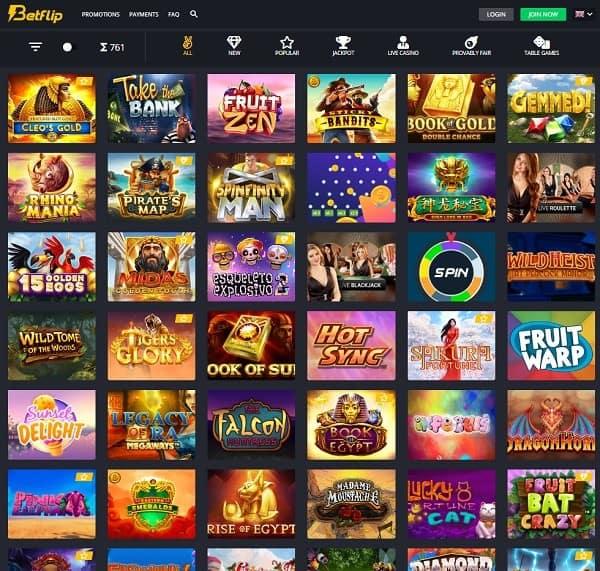 Betflip Online Casino exclusive bonus