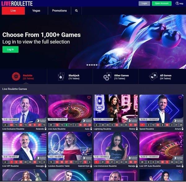 Review & Rating of LiveRoulette.com Casino
