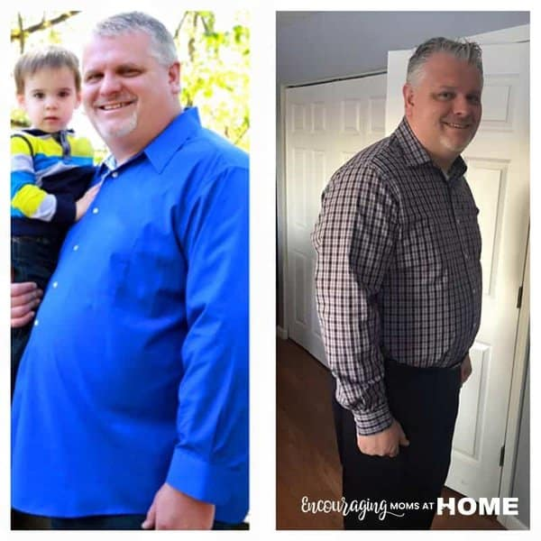 David Bondurant before and after Trim Healthy Mama results - plus Trim Healthy Mama Pizza Recipe in post