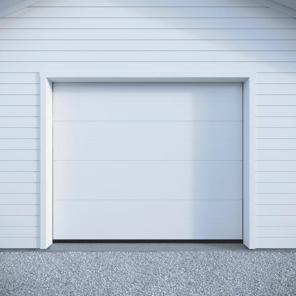 Crawford Trend Woodgrain RAL9016 – Mellby garage
