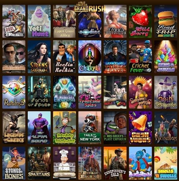 Grand Rush Casino - Australia, New Zealand - free bonus codes