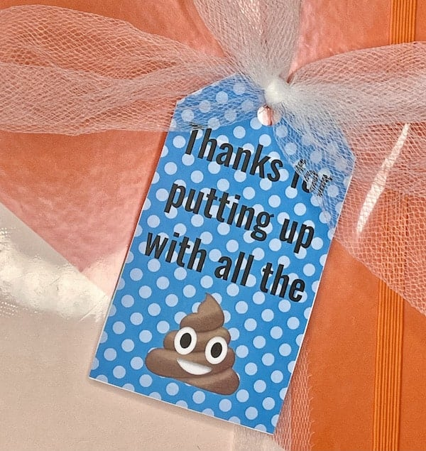 Thanks for Putting Up With All the Crap Printable Gift Tags