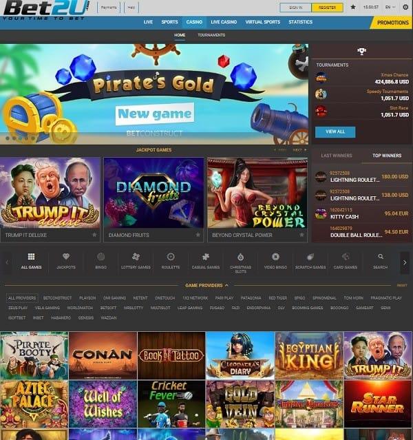 Bet2u.com website