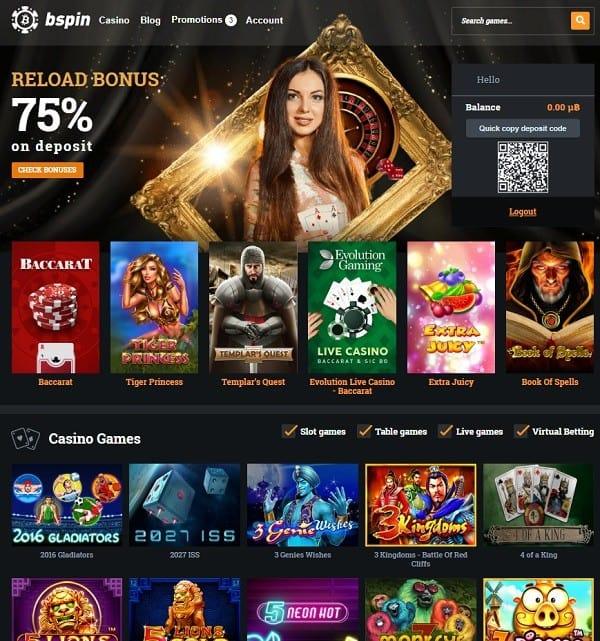 Bspin Crypto Casino