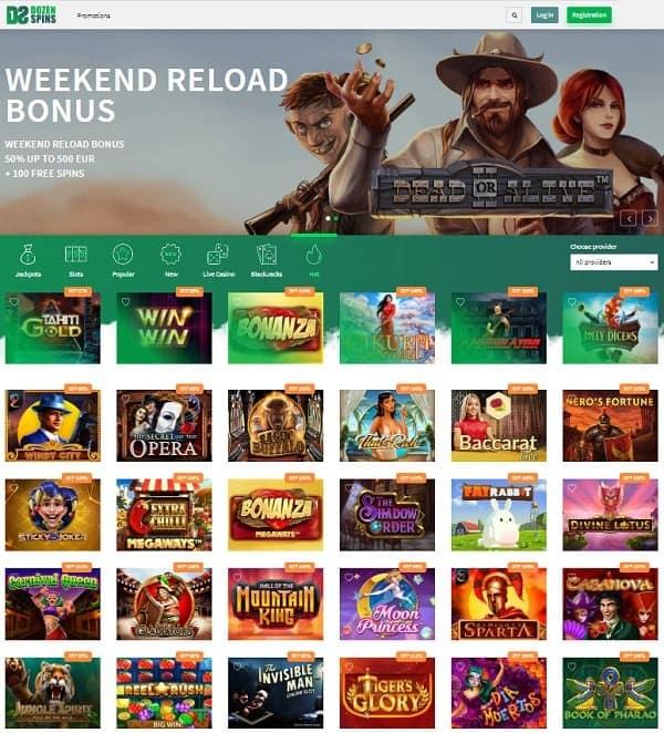 Dozen Spins Casino Online Free Spins Bonus