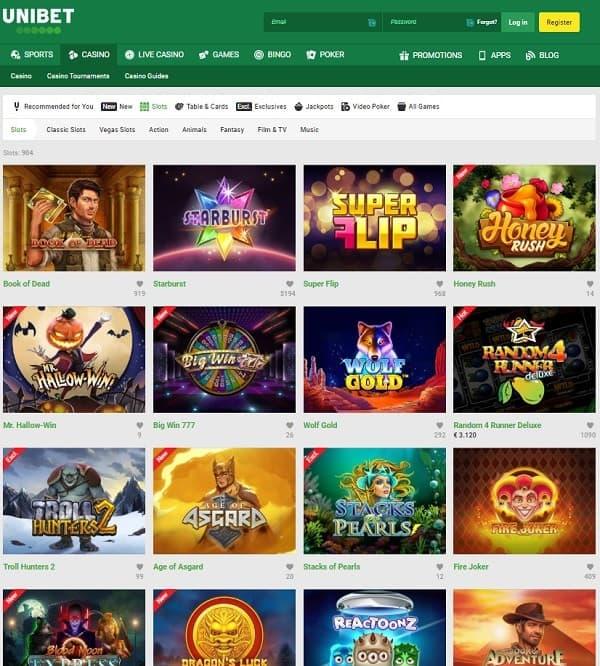 Unibet.com Online and Mobile Casino