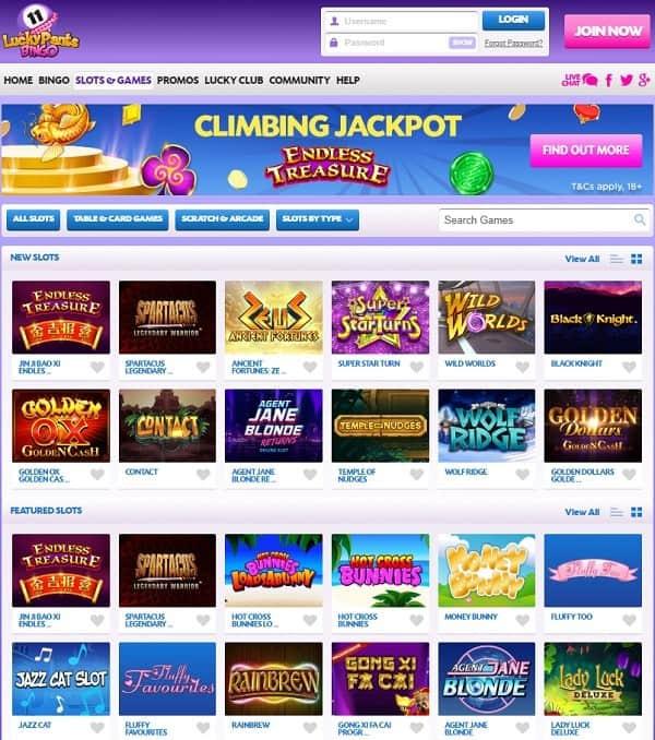 Lucky Pants Bingo Online Games