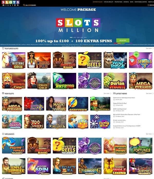 Slots Million Casino free play games
