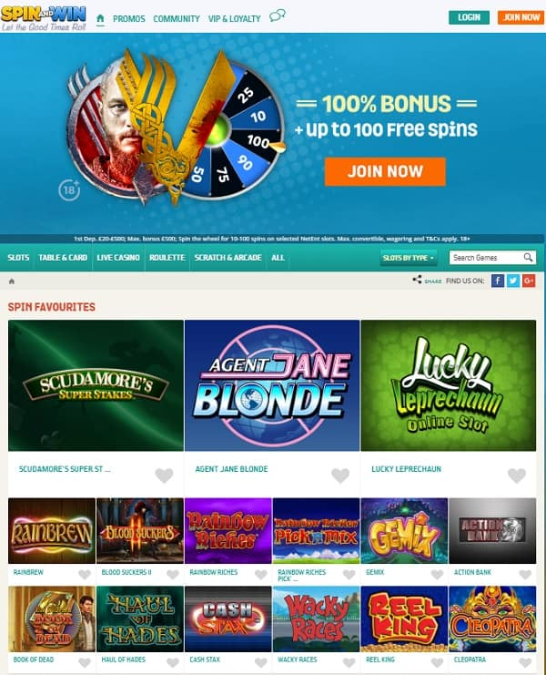 SpinAndWin Casino free games
