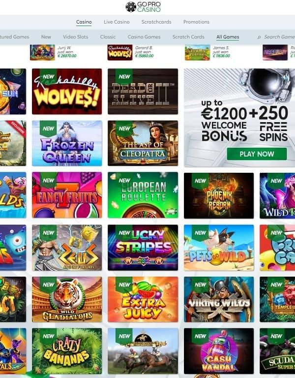 GoPro Casino Free Spins