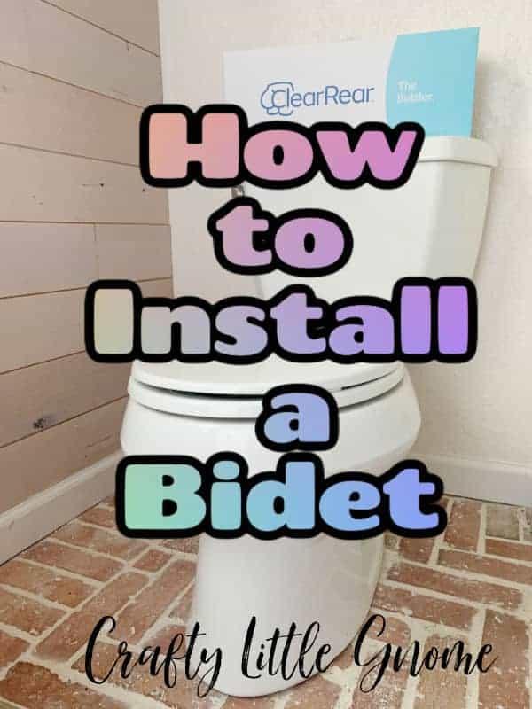 How to install a bidet