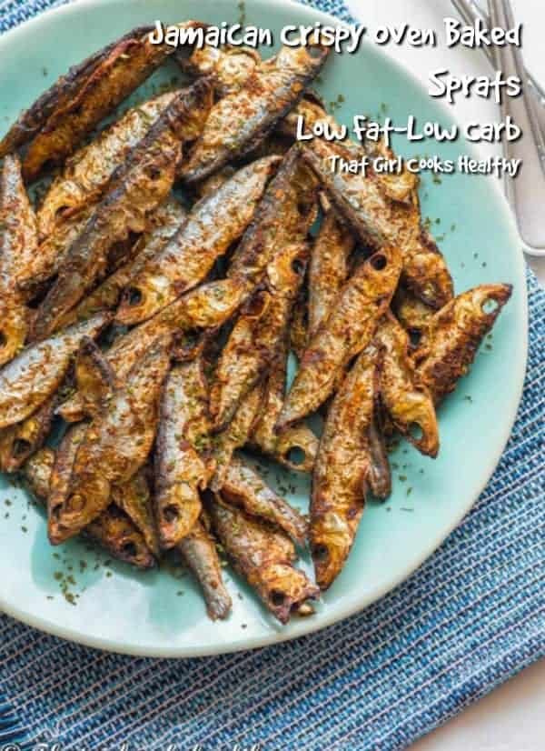 These sprats are crispy and baked to perfection in the oven, making them a healthy option
