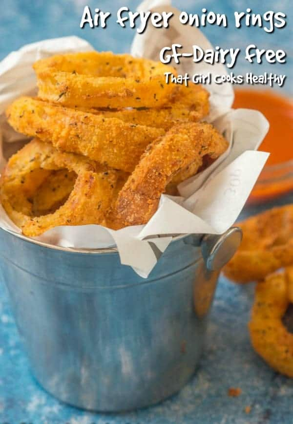 The crispiest gluten free air fryer onion rings you will ever make