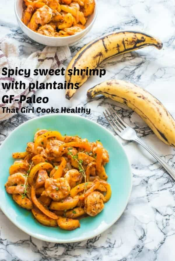 spicy sweet shrimp with plantain
