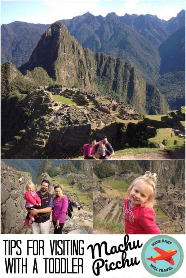 family visiting machu picchu with a toddler, machu picchu with a toddler,