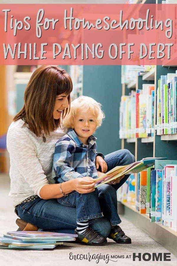 Homeschooling can be expensive! Is your debt piling up? Take a look at a few tips for homeschooling while paying off debt that include saving money, spending less, and frugally homeschooling!