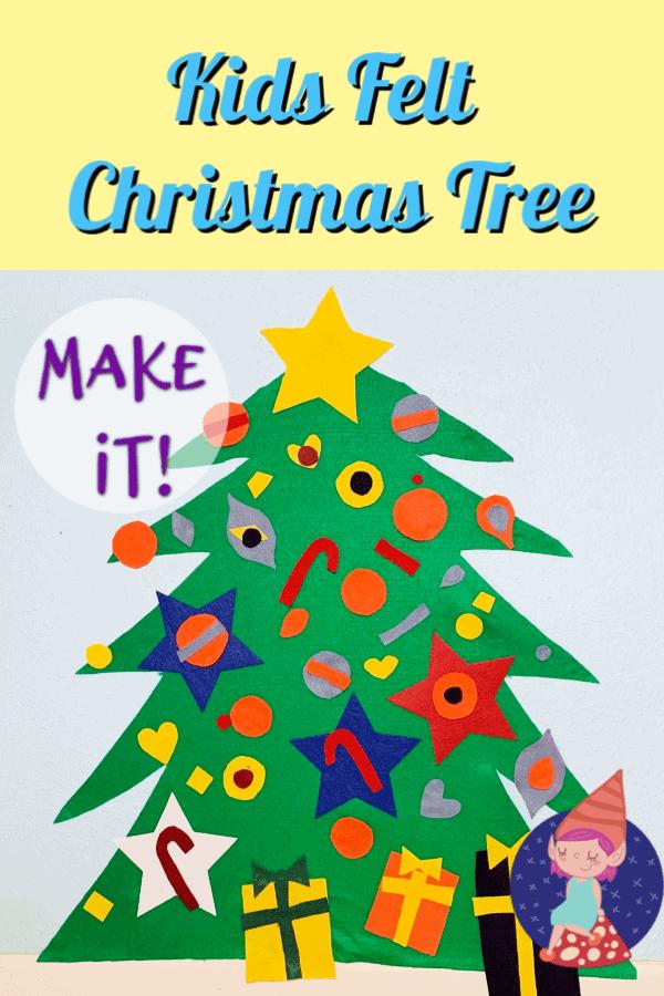 felt christmas tree graphic