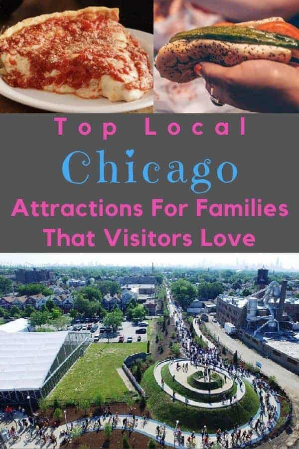 Here are 7 activities and destinations that local chicago families love and that anyone visiting with kids will appreciate, from parks to museums to great neighborhoods for food. #chicago #ideas #kids #weekend #vacation #thingstodo #museums #parks #food