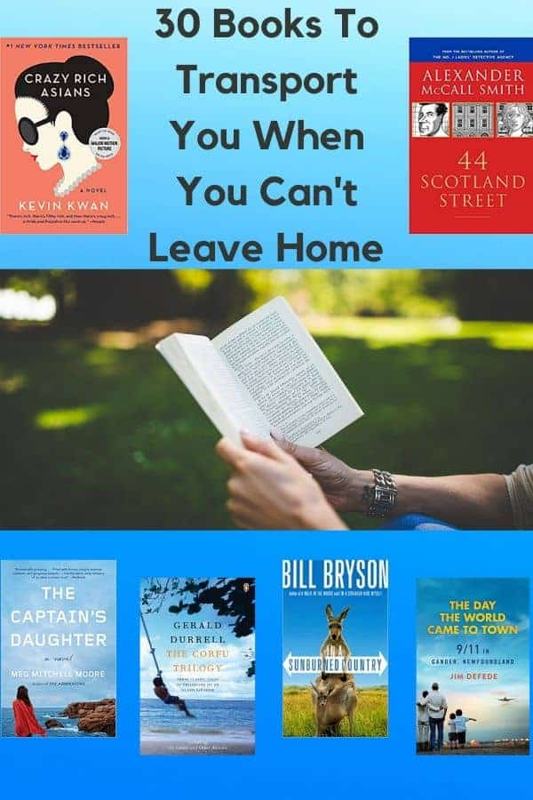 Whether you are quarantined, self-isolating or just on a staycation, these 30 books will let you travel all over the world, + 7 books to insprire kids. #books #inspiration #travel #staycation #selfisolation #quarantine #activities #reading