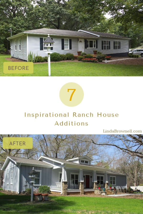 7 Ranch House Additions Before and After