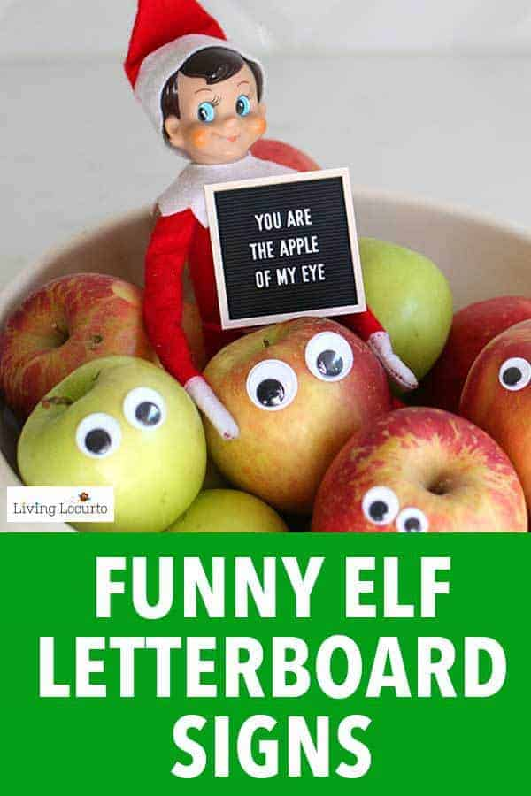 Funny Printable Elf Letter Board Signs. Elf printables for days of hilarious ideas for the Elf on the Shelf. Original elf designs by Living Locurto