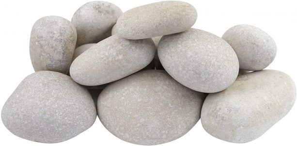 """3"""" up to 5"""" Caribbean white beach pebbles"""