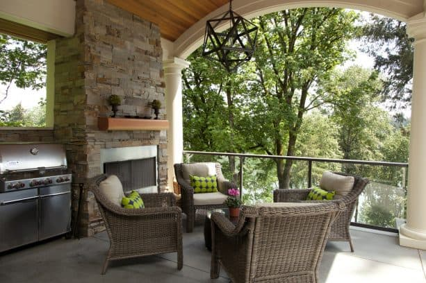 unique arched T&G porch ceiling from fir