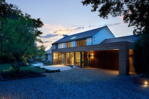 the house is more on the contemporary side after getting the makeover and extension