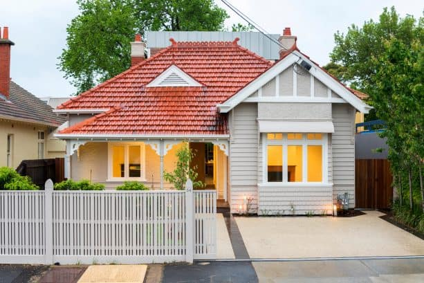 the front of the 1970s house seems more beautiful with its new look