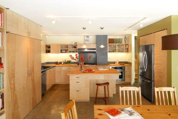 the full view of the kitchen