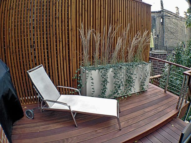 stripes wood for privacy screen