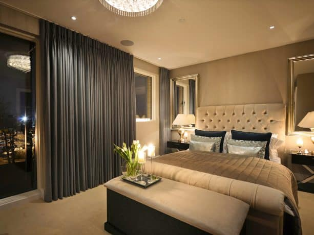 long curtains can conceal short wide windows perfectly
