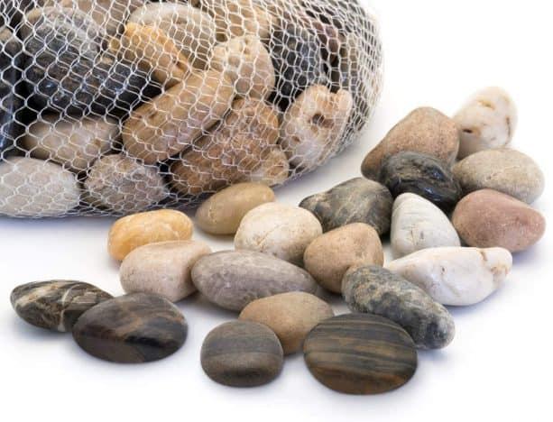 large-size decorative polished river rocks in natural color option