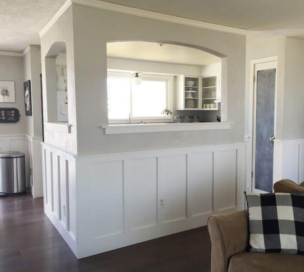 half-wall design after the remodeling