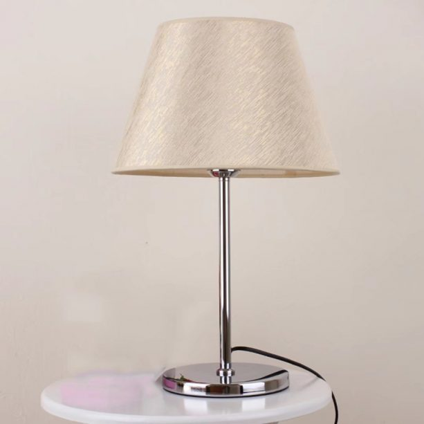 modern table lamp with plug for a living room