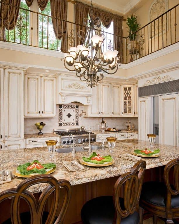 cream kitchen cabinets with glaze