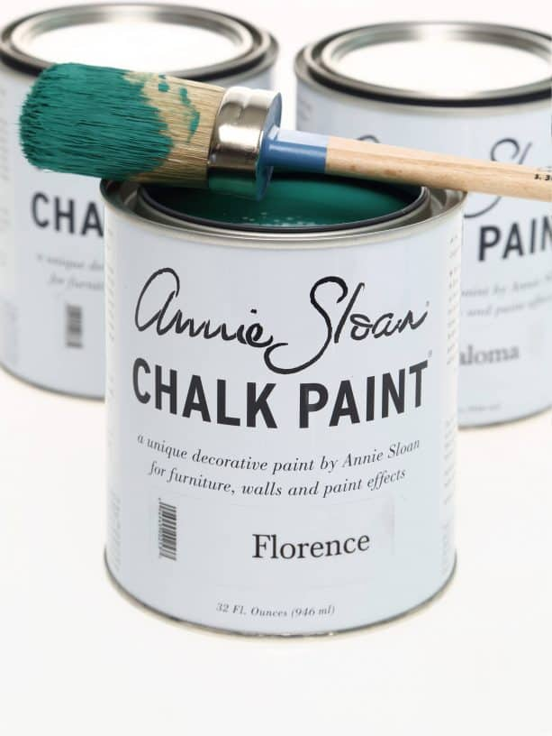 painting fireplace tile with chalk paint by Annie Sloan