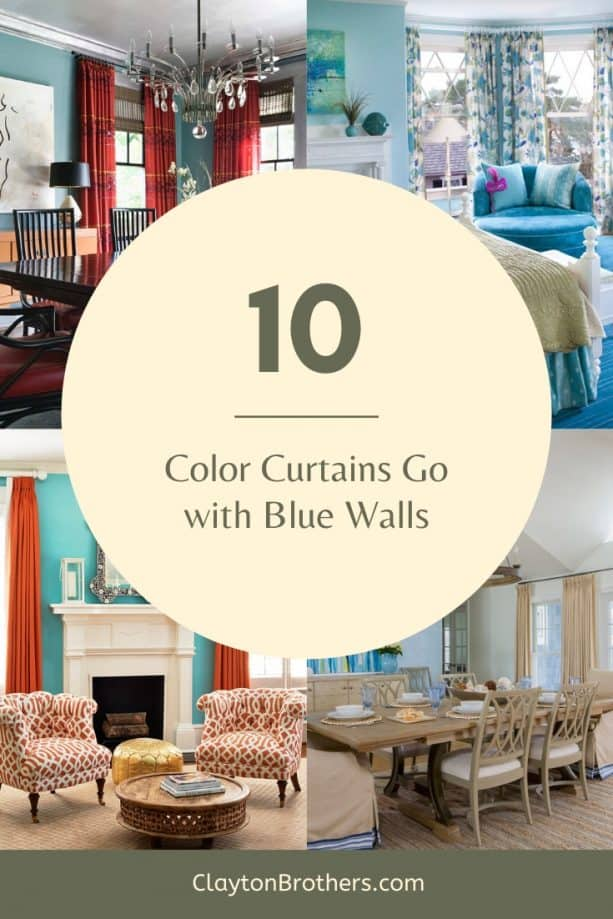 Color Curtains Go with Blue Walls