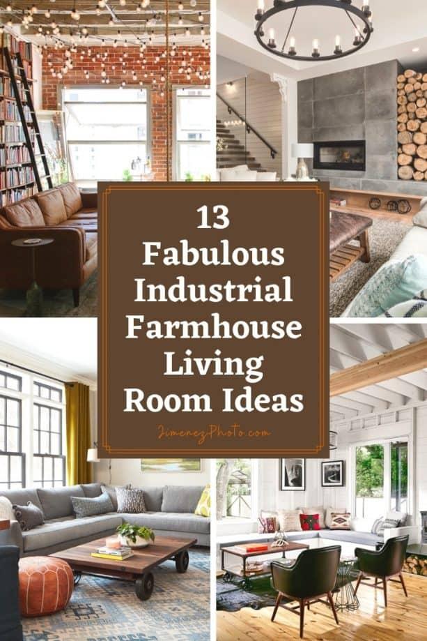 13 Fabulous Industrial Farmhouse Living Room Ideas
