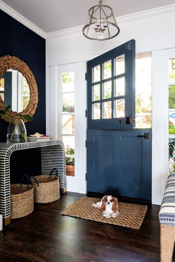 Dutch-style inky navy front door