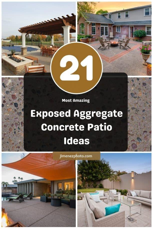 21 Most Amazing Exposed Aggregate Concrete Patio Ideas