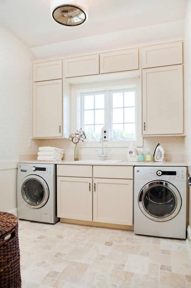 cream laundry room