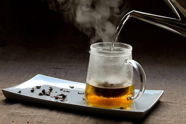 Brewing cascara tea