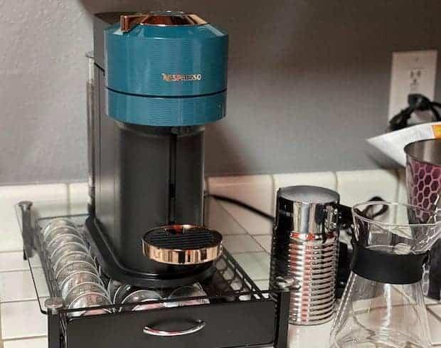 Nespresso Vertuo Next on a kitchen counter