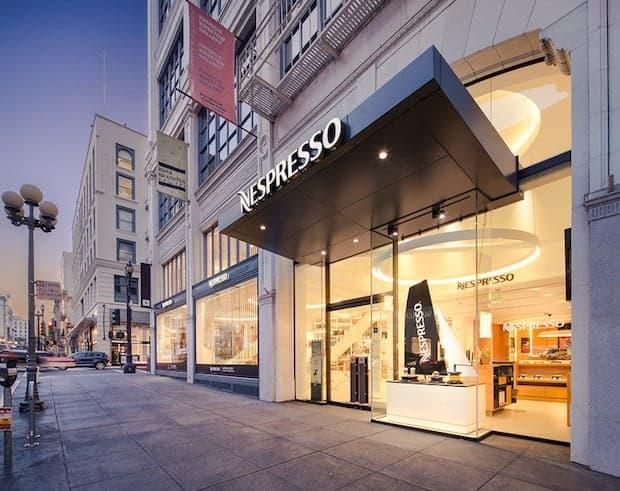 Exterior of Nespresso boutique store in San Francisco