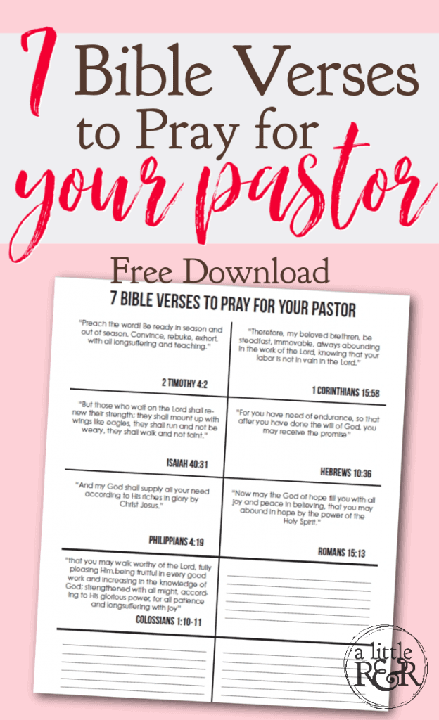 Bible verses to pray for your pastor