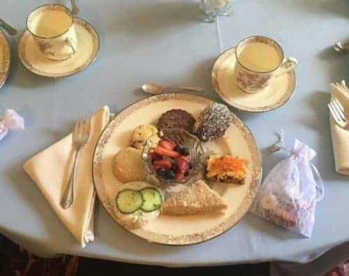 A setting for tea at molly brown's house in denver