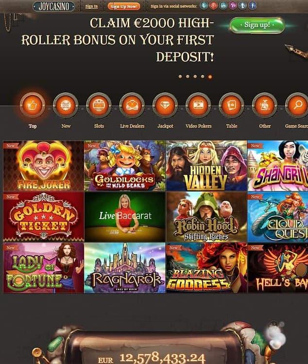 Joy Casino Free Spins